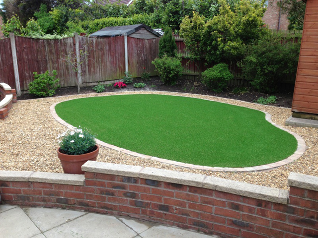 Domestic artificial lawns showcase greens for Domestic garden ideas