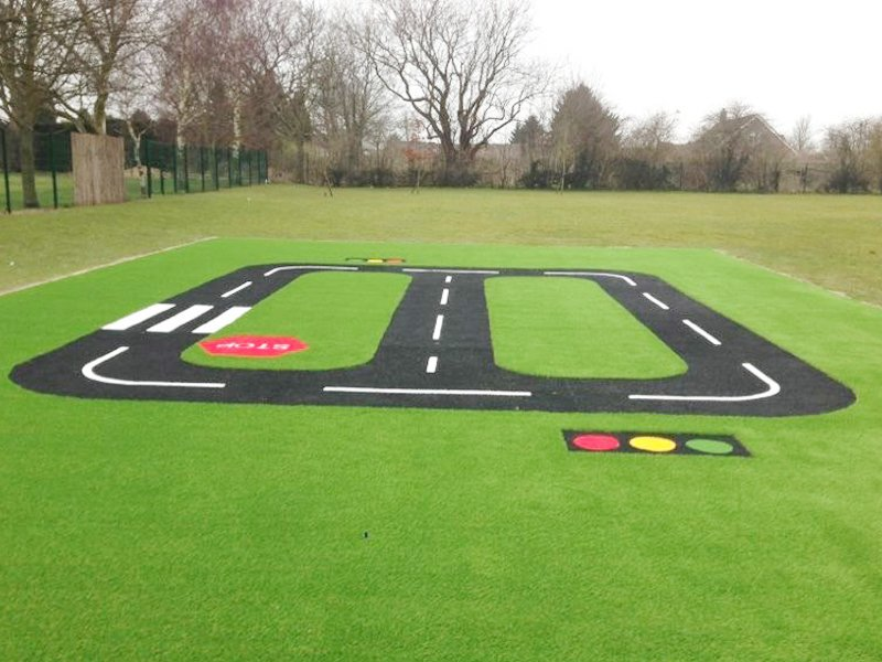 Artificial lawns for childrens play areas